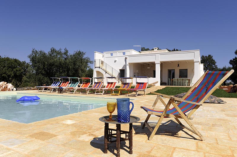 A holiday home to rent in Puglia surrounded by nature with pool is the ideal place to relax and get excited