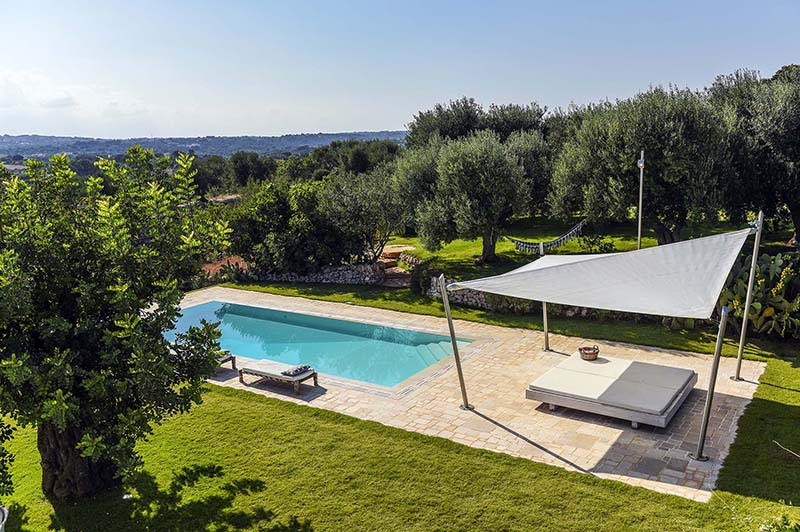 Group of trulli converted in a luxury villa with pool for rent for a Glam holidays in Puglia